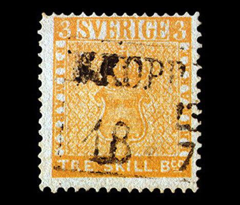 """почтова марка """"жовтий трескіллінг"""""""